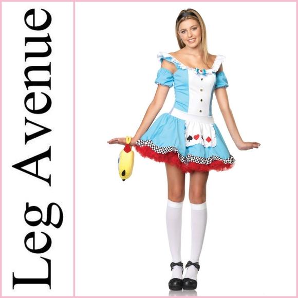 NEW Leg Avenue Jr. Sweetheart Alice Dress Halloween Costume
